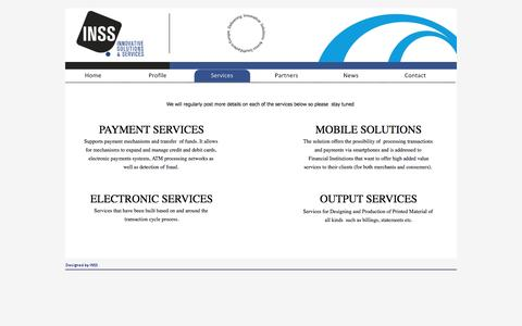 Screenshot of Services Page inss.com.gr - Services - INSS - captured Feb. 3, 2016