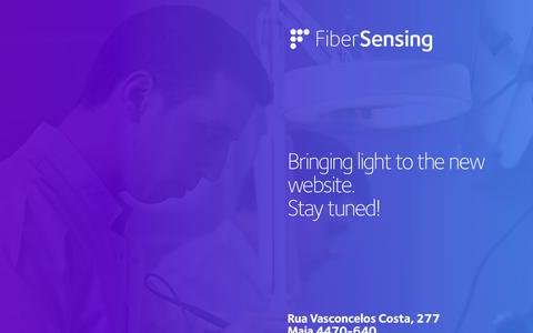 Screenshot of Home Page fibersensing.com - FiberSensing - Bringing light to measurement - captured Sept. 16, 2014
