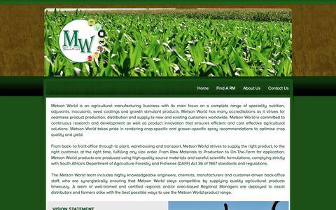 Screenshot of Home Page metson.co.za - Metson - captured Oct. 18, 2018