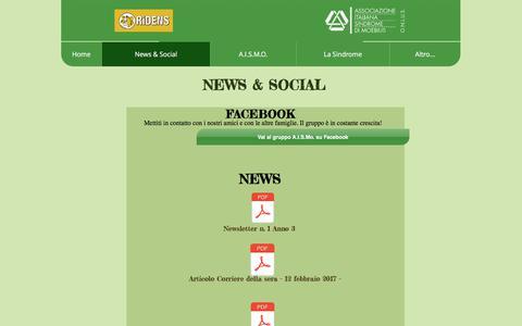 Screenshot of Press Page moebius-italia.it - News & Social - Associazione Italiana Sindrome di Moebius - captured March 9, 2018
