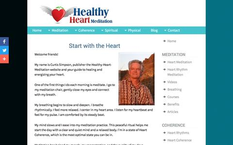 Screenshot of About Page healthy-heart-meditation.com - About Healthy Heart Meditation - captured July 13, 2016