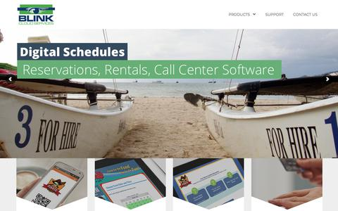 Screenshot of Home Page blinkcloudservices.com - Blink Cloud Services - captured Dec. 18, 2017