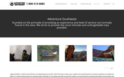 Screenshot of About Page adventuresouthwest.com - About Us - Adventure Southwest - captured Oct. 29, 2014