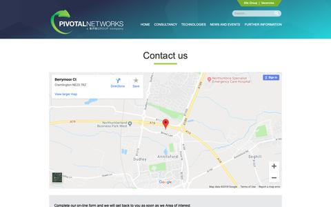 Screenshot of Contact Page pivotalnetworks.co.uk - Contact us | Pivotal Networks - captured Sept. 28, 2018