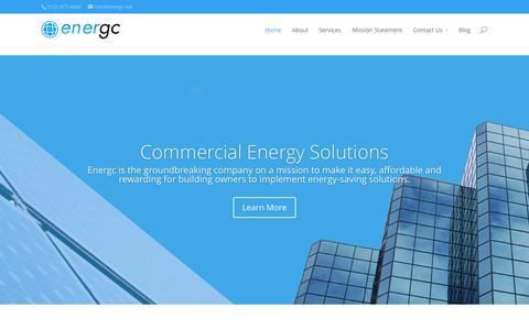 Screenshot of Home Page energc.net - Home - Energc LLC - captured Jan. 23, 2015