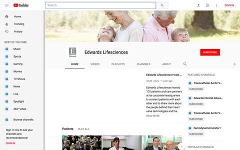 Edwards Lifesciences - YouTube - YouTube