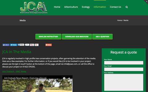 Screenshot of Press Page jcaac.com - Media - captured Sept. 30, 2017
