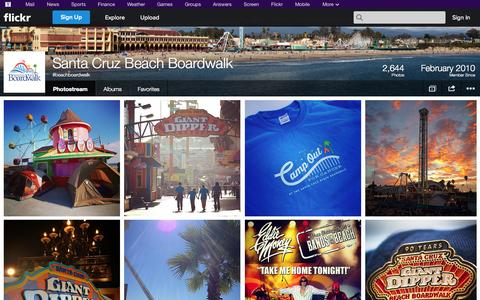 Screenshot of Flickr Page flickr.com - Flickr: #beachboardwalk's Photostream - captured Oct. 23, 2014