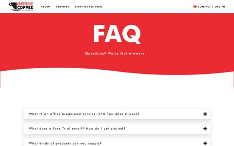 FAQ | Office Coffee Solutions
