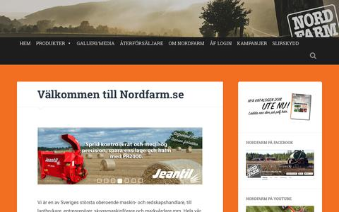 Screenshot of Home Page nordfarm.se captured Oct. 19, 2018