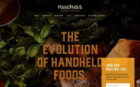 Screenshot of About Page nuchas.com - About — Nuchas - captured Dec. 25, 2018