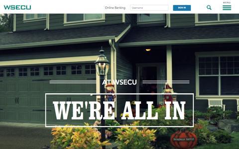 Screenshot of Home Page wsecu.org - Home   WSECU - captured Oct. 1, 2015