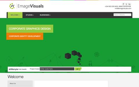 Screenshot of Home Page emagevisuals.com - Welcome - Emage Visuals - captured July 21, 2015
