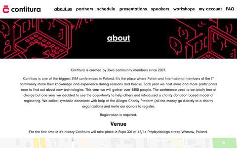 Screenshot of About Page confitura.pl - Confitura 2018 - captured Sept. 29, 2018