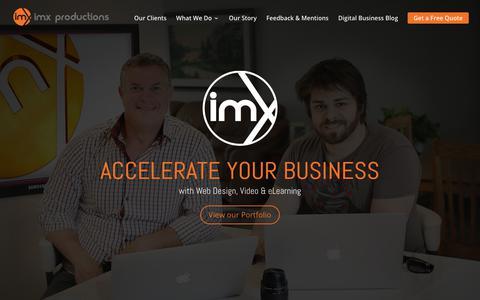 Screenshot of Home Page imxproductions.com - Ottawa Video Production, Digital Marketing & Website Development - captured July 25, 2018