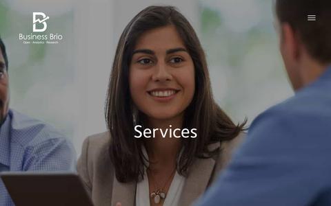 Screenshot of Services Page businessbrio.com - Services | Business Brio - captured Aug. 4, 2018