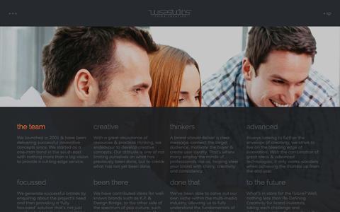 Screenshot of Team Page wisestudios.co.uk - Wise Studios� | Company Team - captured Nov. 17, 2015