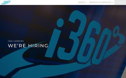 Screenshot of Jobs Page i-360.com - Careers - i360 - captured Sept. 24, 2018