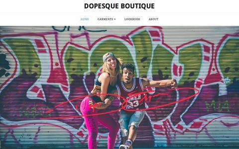 Screenshot of Home Page dopesque.com - Home - Dopesque Boutique - captured Nov. 24, 2016