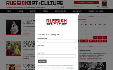 Screenshot of Team Page russianartandculture.com - People Archives | Russian Art + Culture - captured Sept. 21, 2018