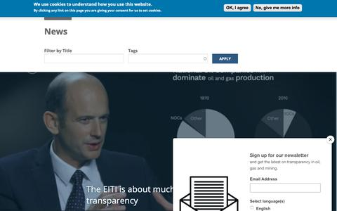 Screenshot of Press Page eiti.org - News | Extractive Industries Transparency Initiative - captured Dec. 13, 2018