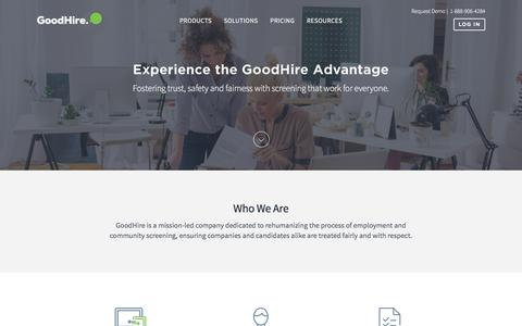 Screenshot of About Page goodhire.com - About GoodHire | GoodHire - captured April 14, 2016