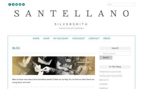 Screenshot of Blog jamiesantellano.com - Blog - Jamie Santellano - captured Oct. 3, 2017