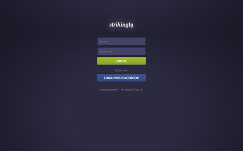 Screenshot of Login Page strikingly.com - Strikingly - captured Sept. 16, 2014