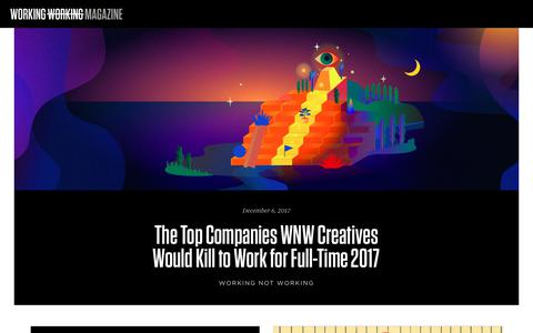 Screenshot of Blog workingnotworking.com - Working Not Working Magazine - captured Dec. 9, 2017