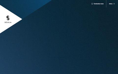 Screenshot of Menu Page nextec-systems.com - Accueil » Groupe-Scala - captured Oct. 26, 2014