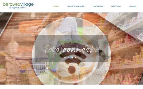 Screenshot of Home Page berowravillage.com.au - Berowra Shopping Village - Welcome - captured Oct. 27, 2018