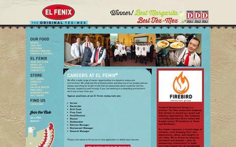 Screenshot of Jobs Page elfenix.com - CAREERS AT EL FENIX® | ElFenix - captured Oct. 2, 2014