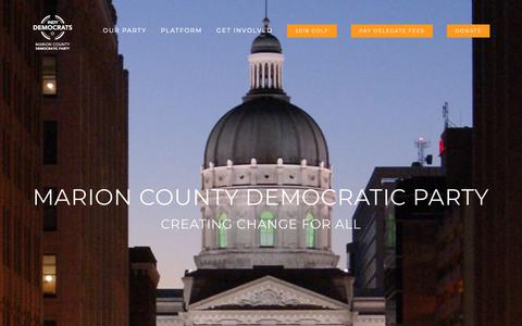 Screenshot of Home Page indydemocrats.com - Indy Democrats – The Marion County Democratic Party - captured Nov. 15, 2018