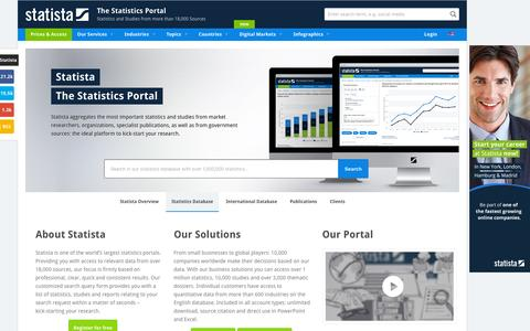 • Statista - The Statistics Portal for Market Data, Market Research and Market Studies