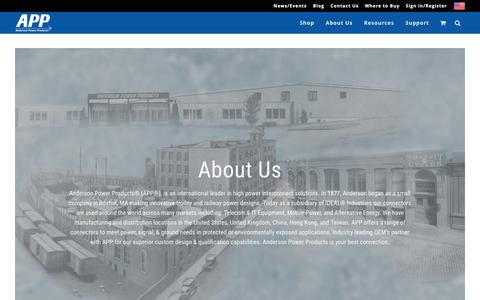 Screenshot of About Page andersonpower.com - About Us - captured Dec. 18, 2018