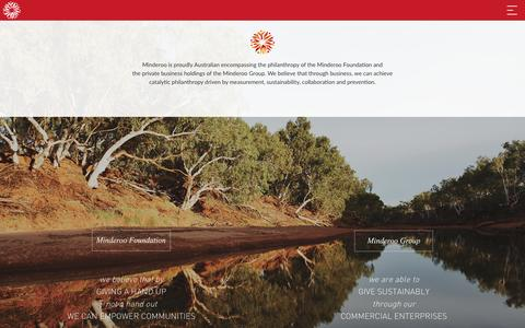 Screenshot of Home Page minderoo.com.au - Minderoo - captured Jan. 10, 2016