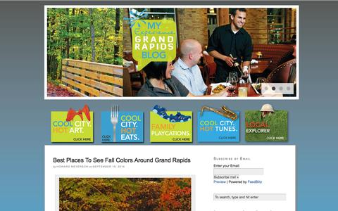 Screenshot of Blog experiencegr.com - Experience Grand Rapids Blog | Eat, Play, Explore Like a Local - captured Sept. 22, 2014