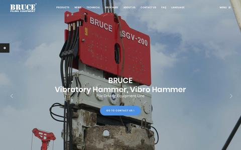 Screenshot of Products Page powerquip.co.kr - Pile Driving Equipment - BRUCE Piling Equipment Co., Ltd. - captured June 27, 2018