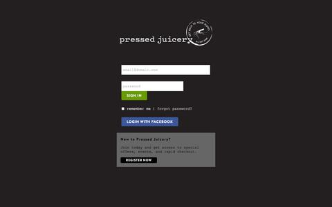 Pressed Juicery - Sign In