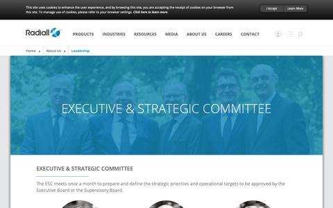 Screenshot of Team Page radiall.com - Leadership - captured Nov. 6, 2018