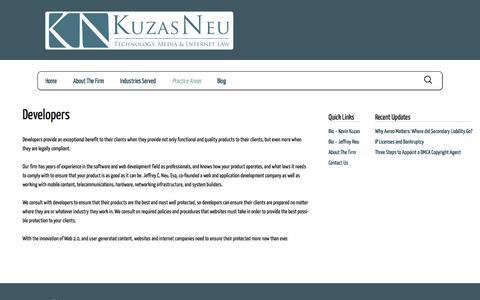 Screenshot of Developers Page kuzasneu.com - Developers | Kuzas Neu - captured Sept. 30, 2014