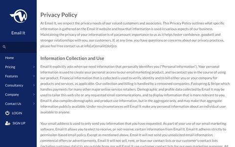 Privacy Policy - Email It