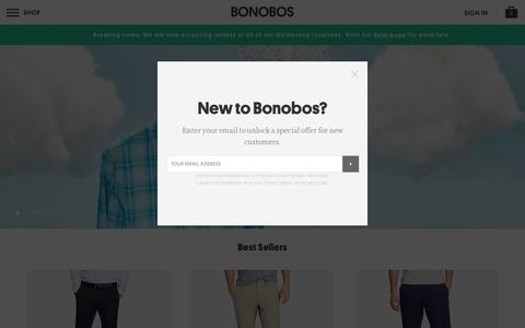 Better-Fitting, Better-Looking Men's Clothing & Accessories   Bonobos