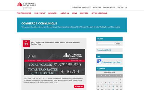 Screenshot of Press Page comre.com - Commercial Real Estate Solutions News | Comre - captured Jan. 30, 2016