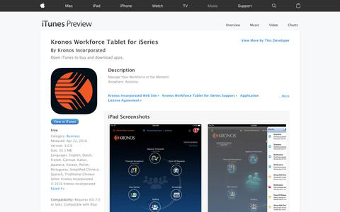 Kronos Workforce Tablet for iSeries on the App Store