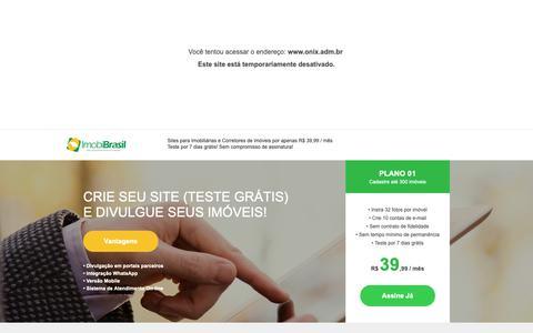 Screenshot of Home Page onix.adm.br - IMOBIBRASIL - Site para Imobiliárias (Teste Grátis) - captured Oct. 20, 2018