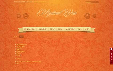 Screenshot of Site Map Page muslimawear.com - Map - captured Oct. 29, 2014