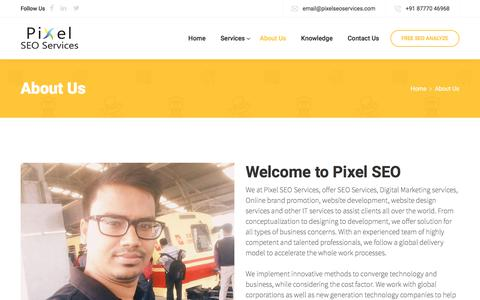 Screenshot of About Page pixelseoservices.com - Best SEO Service Provider Kolkata - SEO Agency in Kolkata India - captured July 19, 2018