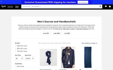 Scarves | Shop for Men's Scarves | Lyst