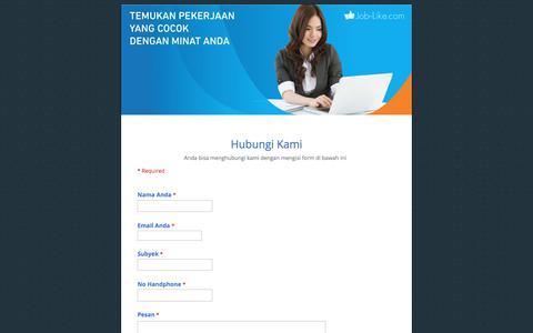 Screenshot of Contact Page google.com - Hubungi Kami - captured Oct. 25, 2017